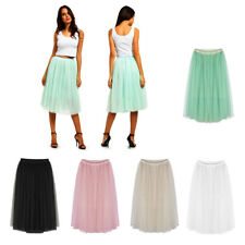 5 Layers Tulle Skirt Long Princess Skirt Pleated Women Tutu Party Skirts Adult