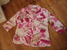 jm collection linen shirt jacket  pink white beige. 12 us  14 16