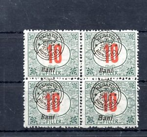 Old occupation stamps of Hungary 1919 Nagyvarad 10 FILLER 4-BLOCK MNH  with mark