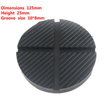 2PCS DIY Universal Cross Slotted Frame Rail  Floor Jack Disk Rubber Pad Adapter