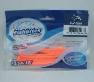 """Fishbites 0066 Orange EZ Clam FishBite 1/2"""" x 12"""" 2CT"""