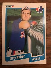 1990 Fleer Larry Walker Montreal Expos 363