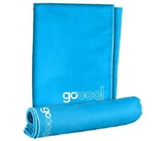 GoCool Instant Chill Reusable Cooling Effect Towels 2 pack Jumbo & Large - Blue