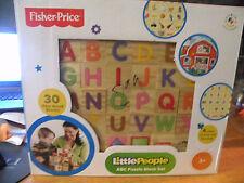 Fisher-Price ABC Alphabet Puzzle Block Set Little People 30pc New