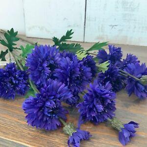 Cornflower Spray Stem Artificial Purple Flower Gisela Graham Wild Spring Easter