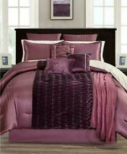 Hallmart Collectibles 12-Piece QUEEN Comforter Set Swinton Plum