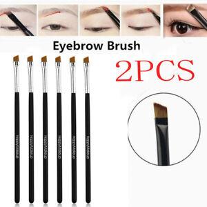 2Pcs Makeup Cosmetic Brush Concealer Foundation Eyebrow Eyeliner Brush