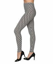 Fashion Leggings White And Black Small / Medium Ladies Womens