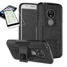 pour Motorola Moto G6 JOUER / E5 HYBRID ETUI extérieur 2 pièces noir + H9