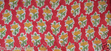 10 Yard Indian Hand block Print Running Loose Cotton Fabrics Printed Decor %37