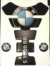 Motorcycle Tank Pad Protector Sticker | (Bmw) S1000RR Black with side Stickers