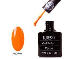 Bluesky UV LED Soak Off Nail Polish Neon 04 Orange 10ml