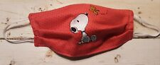 Homemade Fabric Reusable Face MASK - SNOOPY - 100% Cotton - WASHABLE - NEW