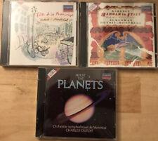 Charles Dutoit 3 London CD LOT , Berlioz, Holst, Bizet, Dukas Satie ETC NEW