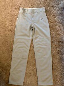 Boys youth size large Nike  Dri-fit Light Gray baseball pants EUC