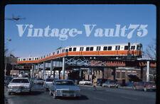 Original Slide Mbta 01209 Boston Transit Subway Kodachrome 1987 Dudley El Scene