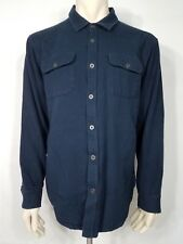 prAna blue Breathe organic cotton button up thermal shirt mens XL X-Large