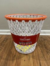 "Spalding WPBA Basketball Hoop Net Waste Paper Basket Trash Can ""Garbage Shot"""