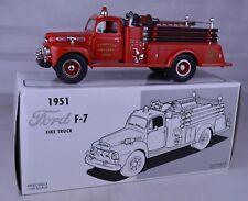 """First Gear 19-1902 """"Dyersville Iowa FD"""" 1951 Ford F-7 Fire Truck 8 1/4"""" Mint/Box"""