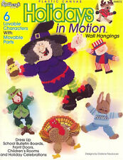 HOLIDAYS IN MOTION Wall Hanging Plastic Canvas Patterns Paperback Crafts Book