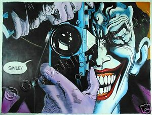 Joker Oil Painting The Killing Batman Art Hand-Painted on Canvas 30x40 #c
