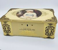 "Vintage Thorne's Toffee Candy Tin Locking Box ""Simplicity"" Made in England"