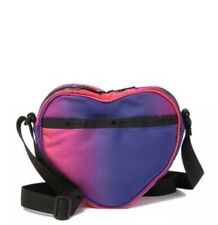 LeSportsac Valentine Sweetheart Crossbody Heart Shaped Pink Red Purple Ombre NEW