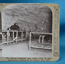 WW1 Stereoview Famous Labyrinth Near Arras Taken May 1915 Realistic Travels