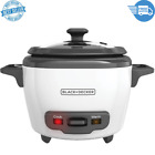 3 Cup Electric Rice Cooker with Automatic Keep-Warm Function White, Non stick photo