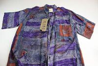 NWT Tribes VTG Artwork Button Up Shirt Large  L