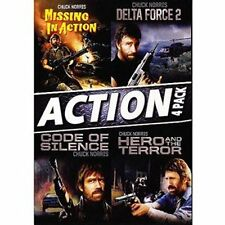 Chuck Norris 4 Film Missing In Action, Delta Force 2, Code of Silence Hero (DVD