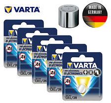 5 x VARTA Professional Lithium CR1/3N 2L76 K58L 6131 CR11108 Battery 3V EXP:2025