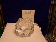 Orrefors Crystal Artichoke Nimbus Glass Votive Candle Holder -Sweden