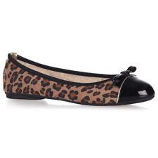 Butterfly Twists cara Leopardo/oro Pieghevole Ballerine NUOVO AW17 Taglia 5