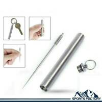 Outdoor Portable Titanium Alloy Toothpick with Waterproof Holder Keychain