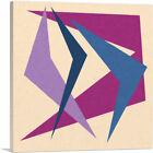 ARTCANVAS Mid-Century Modern Purple Dance Canvas Art Print