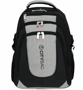 City Bag Laptop Backpack Mens 15.6 Inch Business Bag Commuter Water Resistant Ca