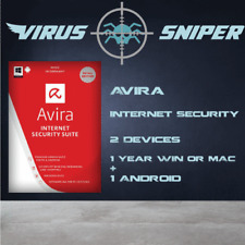 Avira Internet Security Suite 2019 2 Devices 1 Year WIN or MAC + 1 Android
