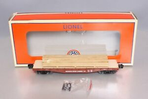 Lionel 6-82852 O Meadow River Lumber 40' Flatcar with Lumber Load/Box