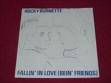 """Rocky Burnette:   Fallin' In Love (Bein' Friends)   Near Mint  UK DEMO  7"""""""
