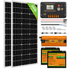 100W 200W  Solar Panel Kit 12 Volt Battery Charge Controller RV Camper Boat