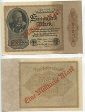 GB420 - Banknote Deutsches Reich 1 Milliarde Mark auf 1000 Mark 1922 Pick#113