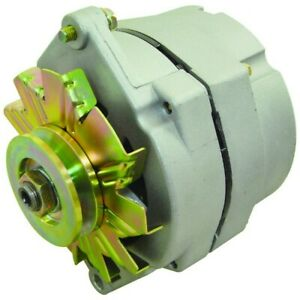 New Alternator Replace Delco 10SI 1 Wire Install 63 Amp V Belt Pulley