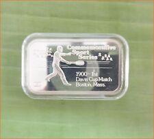 "RARE !! 1 oz .999 silver ""ENGELHARD SPORT : TENNIS GAME"" 5,000 Mintage Bar H159"