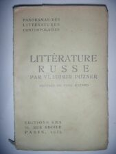 Panorama des littératures contemporaines: Pozner: Littérature Russe, 1929, BE