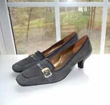 Objective Womens Brown Leather Natualizer Slides Wedge Heel Buckle Size 9.5 N Worn Once Clothing, Shoes & Accessories