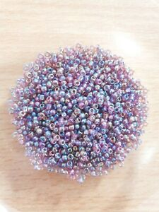 200 x REGENBOGENFARBEN Glasperlen ♥ zum Basteln/Schmuckherstellung Beads Ø 2mm