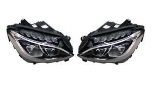 Left & Right Marelli Dynamic LED Headlights Headlamps Pair Set For Mercedes W205