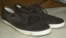 CLARKS Brown Suede Lace Up Casual Sneaker size 9.5 Med