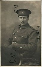 WW1 Soldier Royal Marine Artillery in Khaki Southsea photographer  C E Hayden